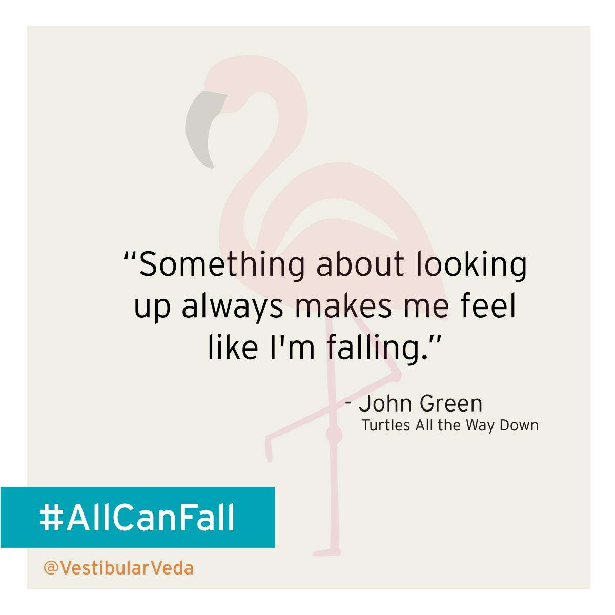 """Something about looking up always makes me feel like I'm falling.""  ― John Green, Turtles All the Way Down"