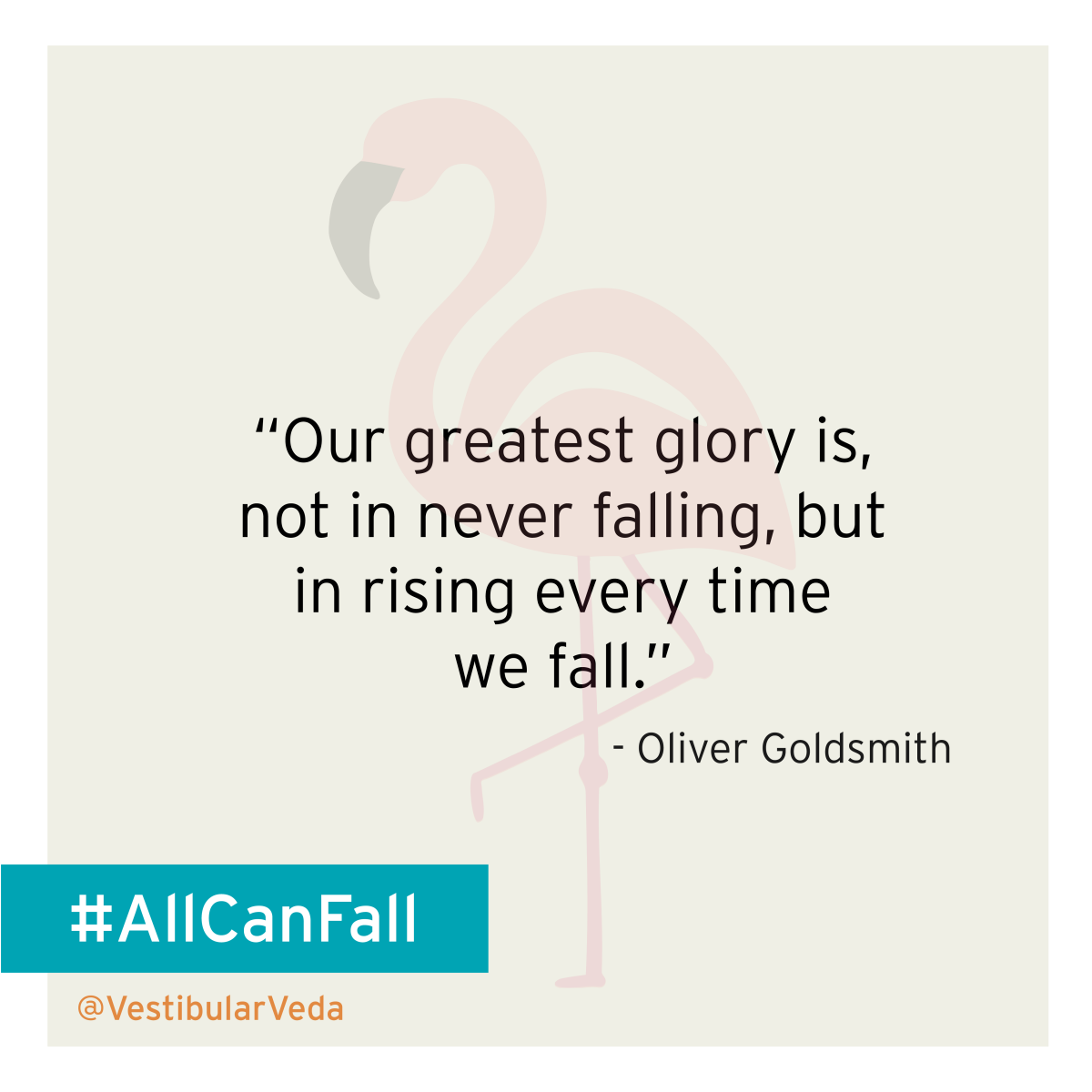 Our greatest glory is, not in never falling, but in rising every time we fall.   ― Oliver Goldsmith