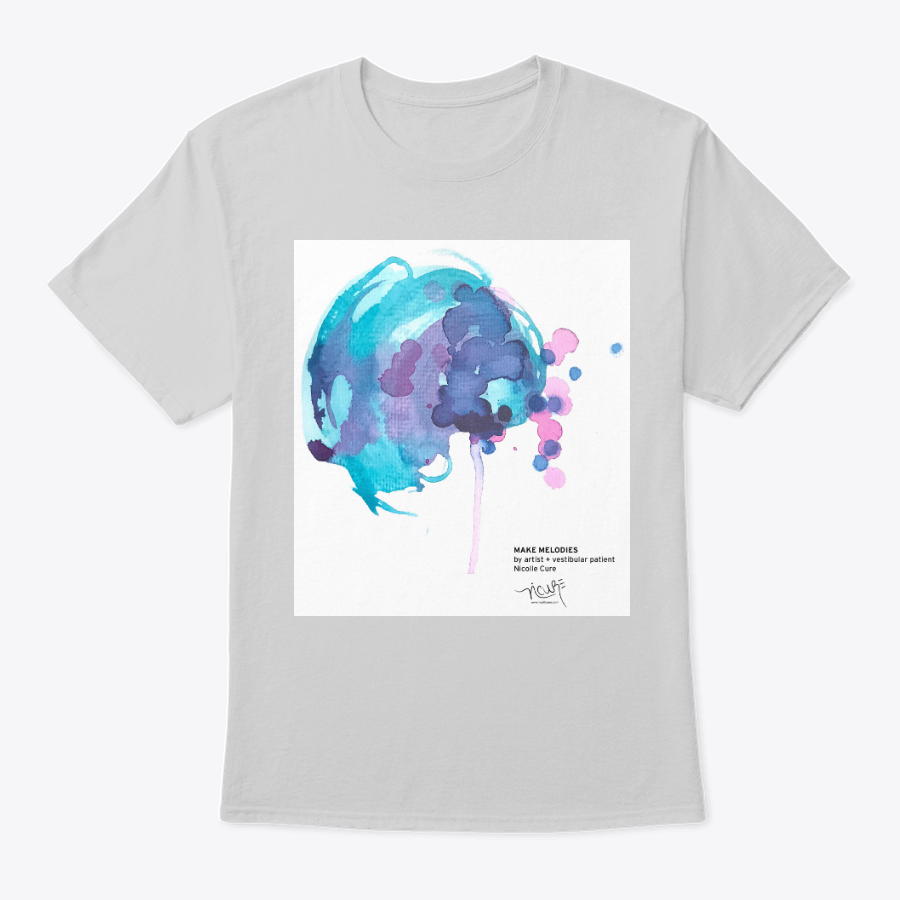 Make Melodies painting by Nicolle Cure on white teeshirt