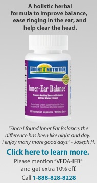 Tao of Herbs Inner Ear Balance formula - mention VEDA-IEB for 10% off