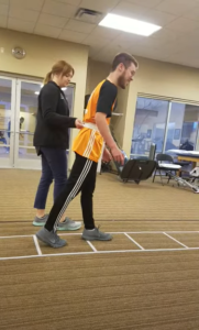 Watch this VIDEO of Alex trying to walk without a cane during one of his early Vestibular Rehabilitation Therapy sessions.